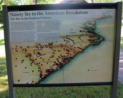 Ninety Six in the American Revolution Marker image. Click for full size.