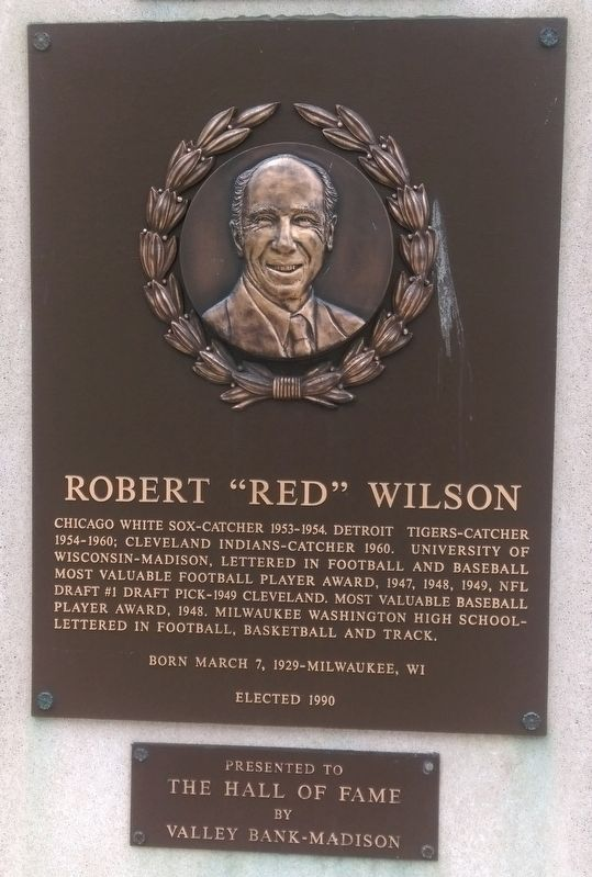 "Robert ""Red"" Wilson Marker image. Click for full size."