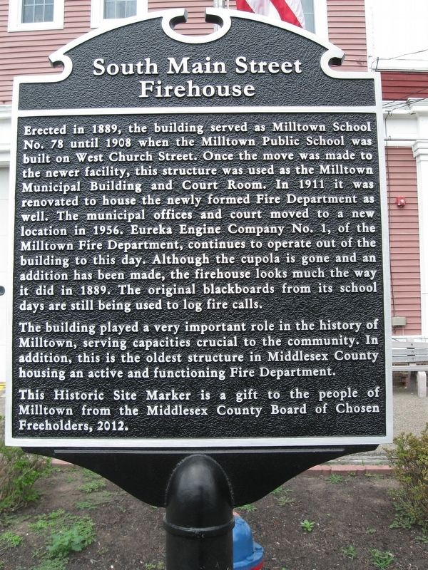 South Main Street Firehouse Marker image. Click for full size.