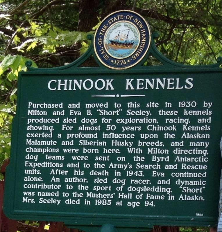 Chinook Kennels Marker image. Click for full size.