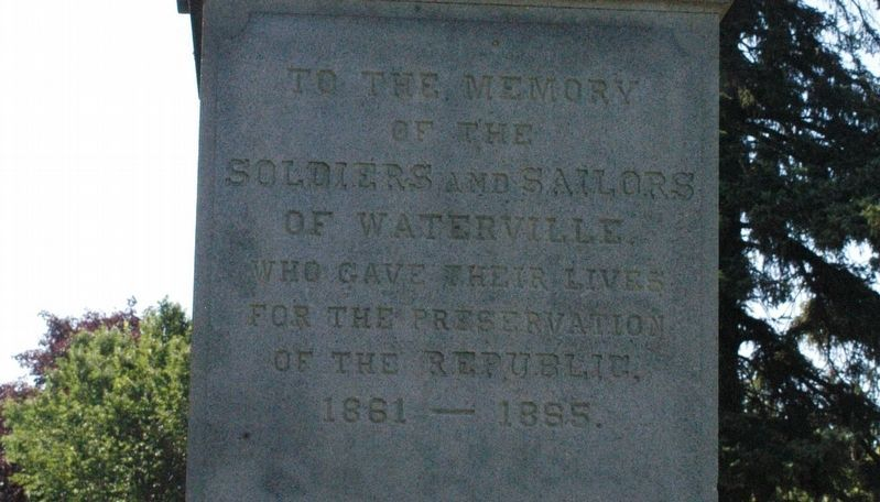 Waterville Maine Civil War Memorial Marker image. Click for full size.
