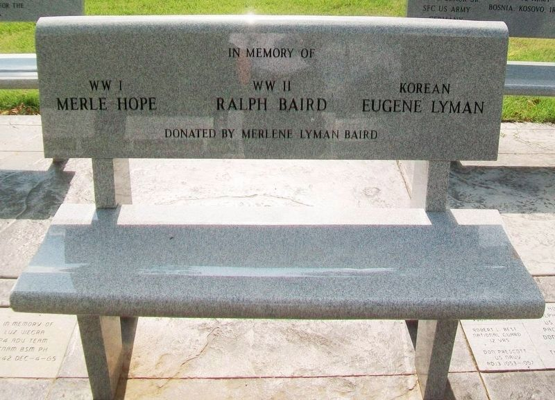 Pawnee County Area All Veterans Memorial Bench image. Click for full size.