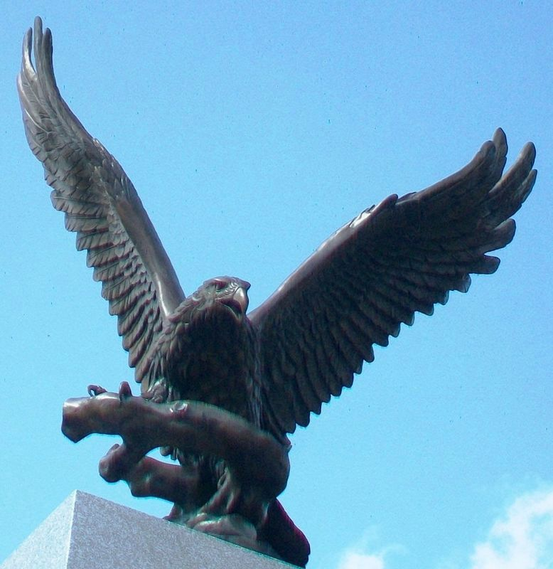 Pawnee County Area All Veterans Memorial Eagle image. Click for full size.