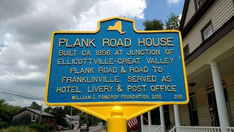Plank Road House Marker image. Click for full size.