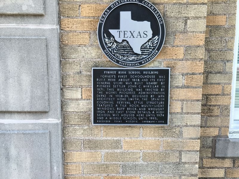 Forney High School Building Marker image. Click for full size.