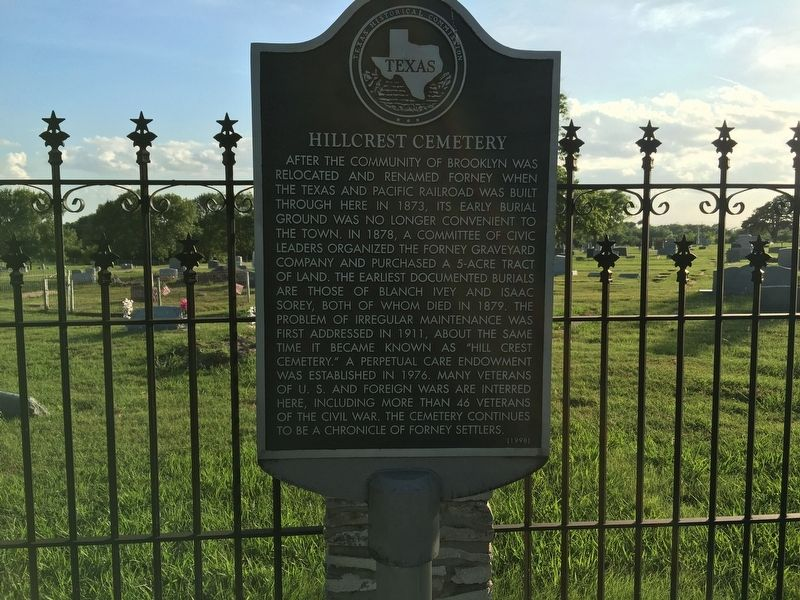 Hillcrest Cemetery Marker image. Click for full size.