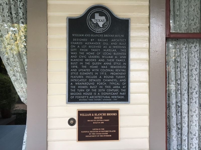 William and Blanche Brooks House Marker image. Click for full size.