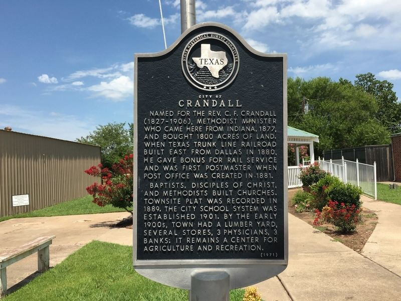 City of Crandall Marker image. Click for full size.