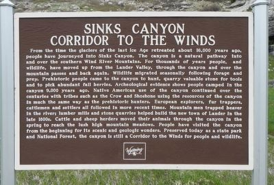 Sinks Canyon Marker image. Click for full size.