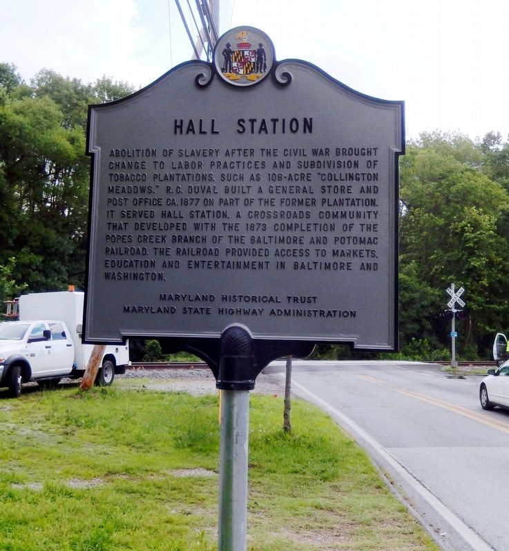 Hall Station Marker image. Click for full size.