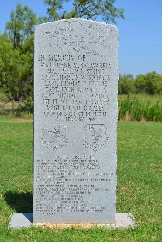 Memorial near 7th Bombardment Wing Marker image. Click for full size.