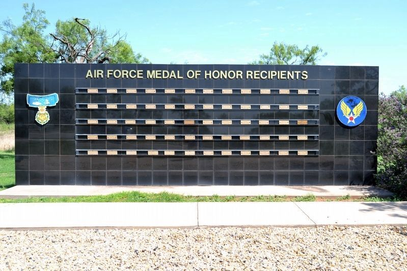 Air Force Medal of Honor Recipients Memorial image. Click for full size.