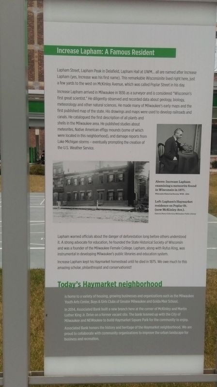 Haymarket Square History Marker Panel 3 image. Click for full size.