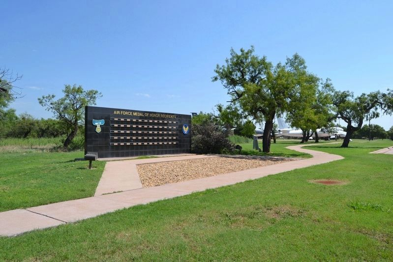 Air Force Medal of Honor Recipients Memorial in Dyess Airpark image. Click for full size.