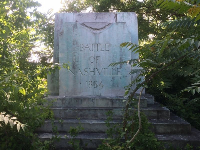 Battle of Nashville Monument Marker (Original Pedestal) image. Click for full size.