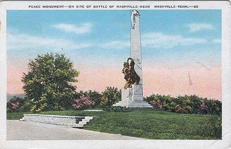 Original Battle of Nashville Monument Marker image. Click for full size.