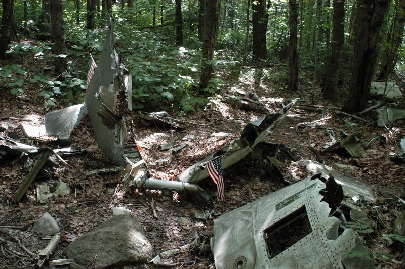 Greenville Maine 1963 B-52 Elephant Mountain Crash Site Marker image. Click for full size.
