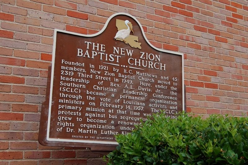 The New Zion Baptist Church Marker image. Click for full size.