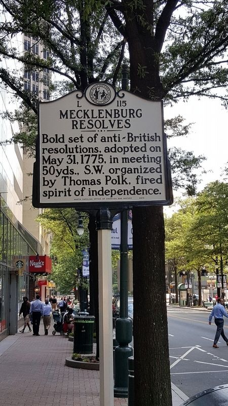 Mecklenburg Resolves Marker image. Click for full size.