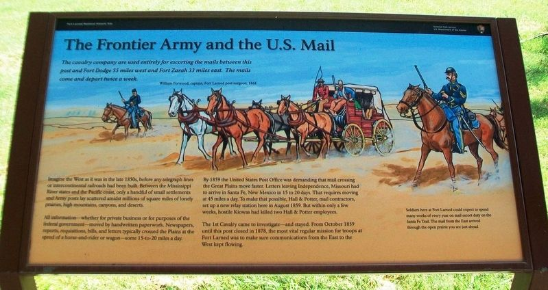 The Frontier Army and the U.S. Mail Marker image. Click for full size.