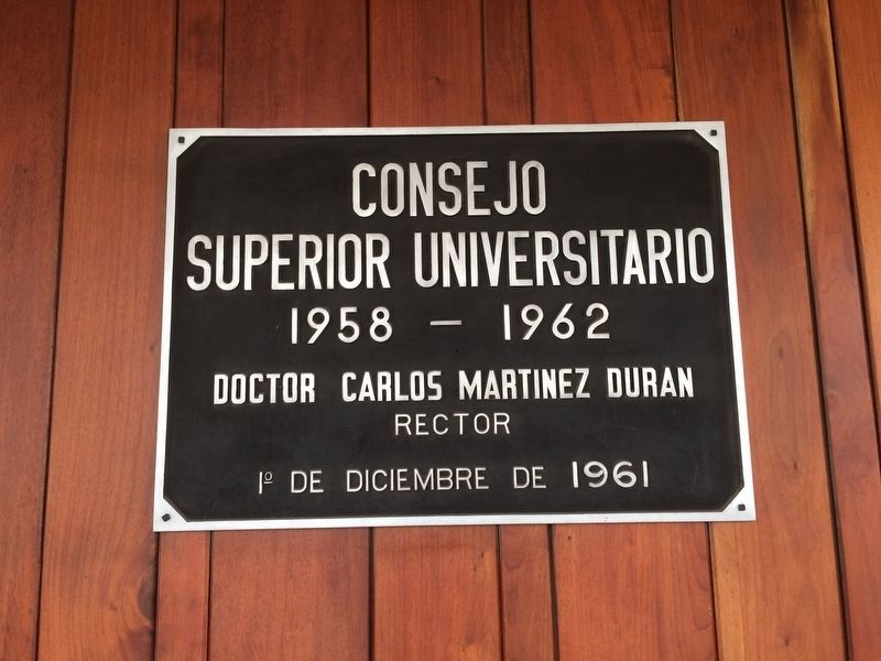 An additional marker of tribute to the Superior University Council of 1958-1962 image. Click for full size.