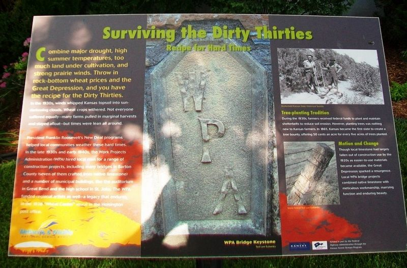 Surviving the Dirty Thirties Marker image. Click for full size.