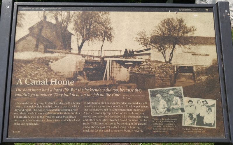 A Canal Home Marker image. Click for full size.