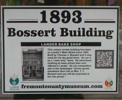 Bossert Building Marker image. Click for full size.