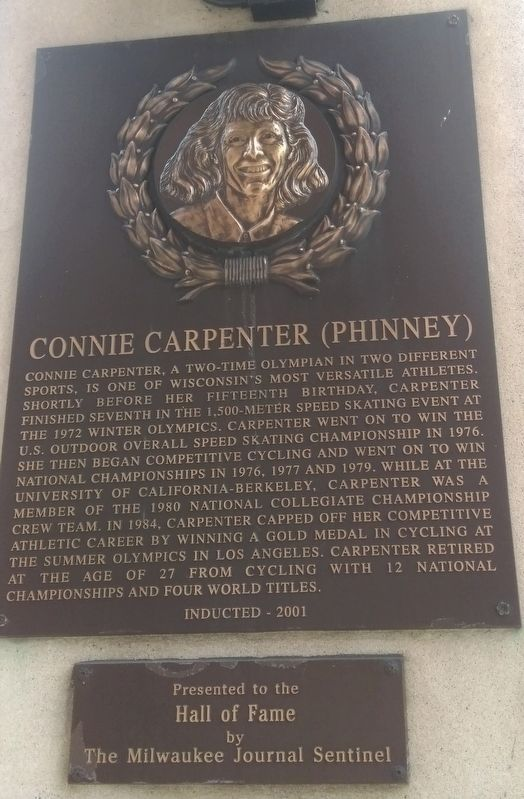 Connie Carpenter (Phinney) Marker image. Click for full size.