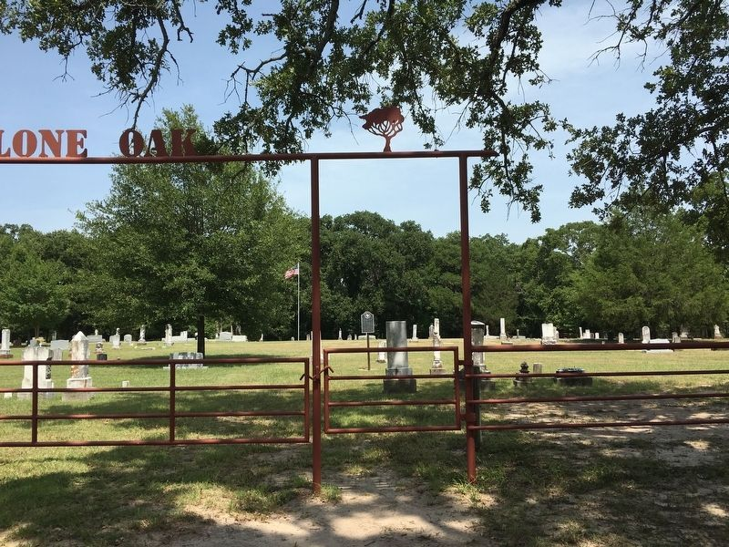 Lone Oak Cemetery image. Click for full size.