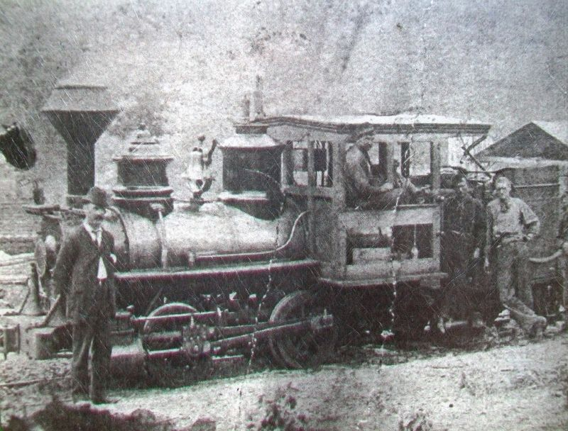 Photo of Mertens' Railroad (AKA Green Ridge Railroad) on Log Roll Trail Marker image. Click for full size.