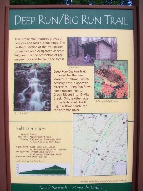 Deep Run/Big Run Trail Marker image. Click for full size.