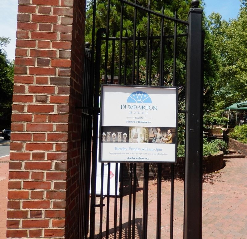 Entrance sign to Dumbarton House image. Click for full size.