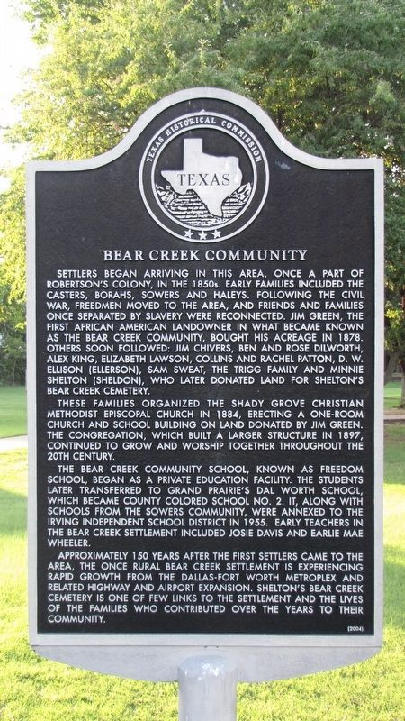 Bear Creek Community Marker image. Click for full size.