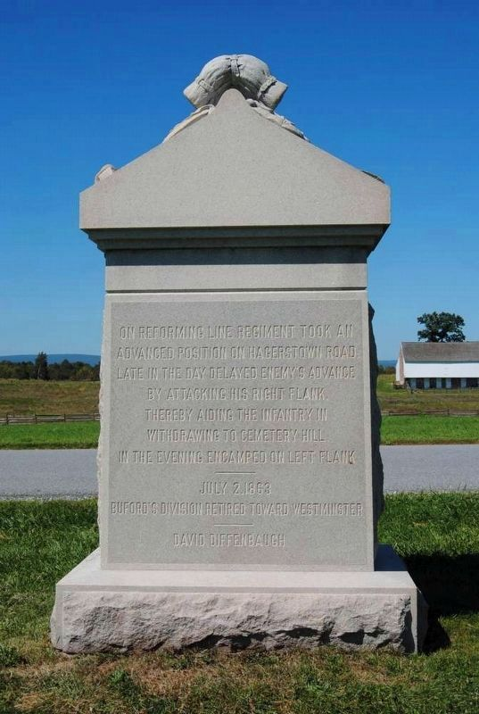 8th Illinois Cavalry Monument (Reverse) image. Click for full size.