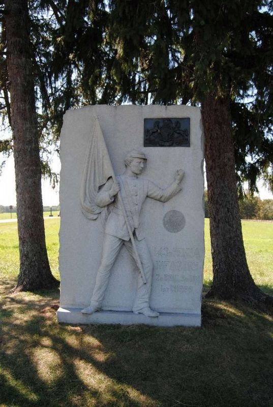 143d Pennsylvania Infantry Monument image. Click for full size.