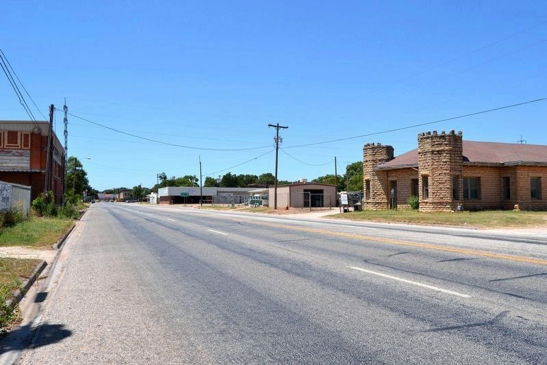 View to Northwest Along S. 7th Street (US 83) Towards Downtown Ballinger image. Click for full size.