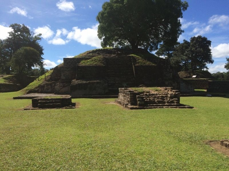 Temple 3 in Plaza A of Iximche image. Click for full size.