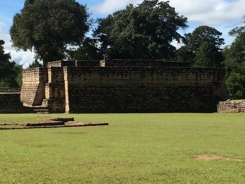 Temple 1 in Plaza A of Iximche image. Click for full size.