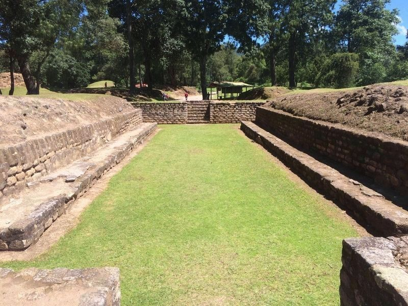 Plaza A Ballcourt, one of two ballcourts at Iximche. image. Click for full size.