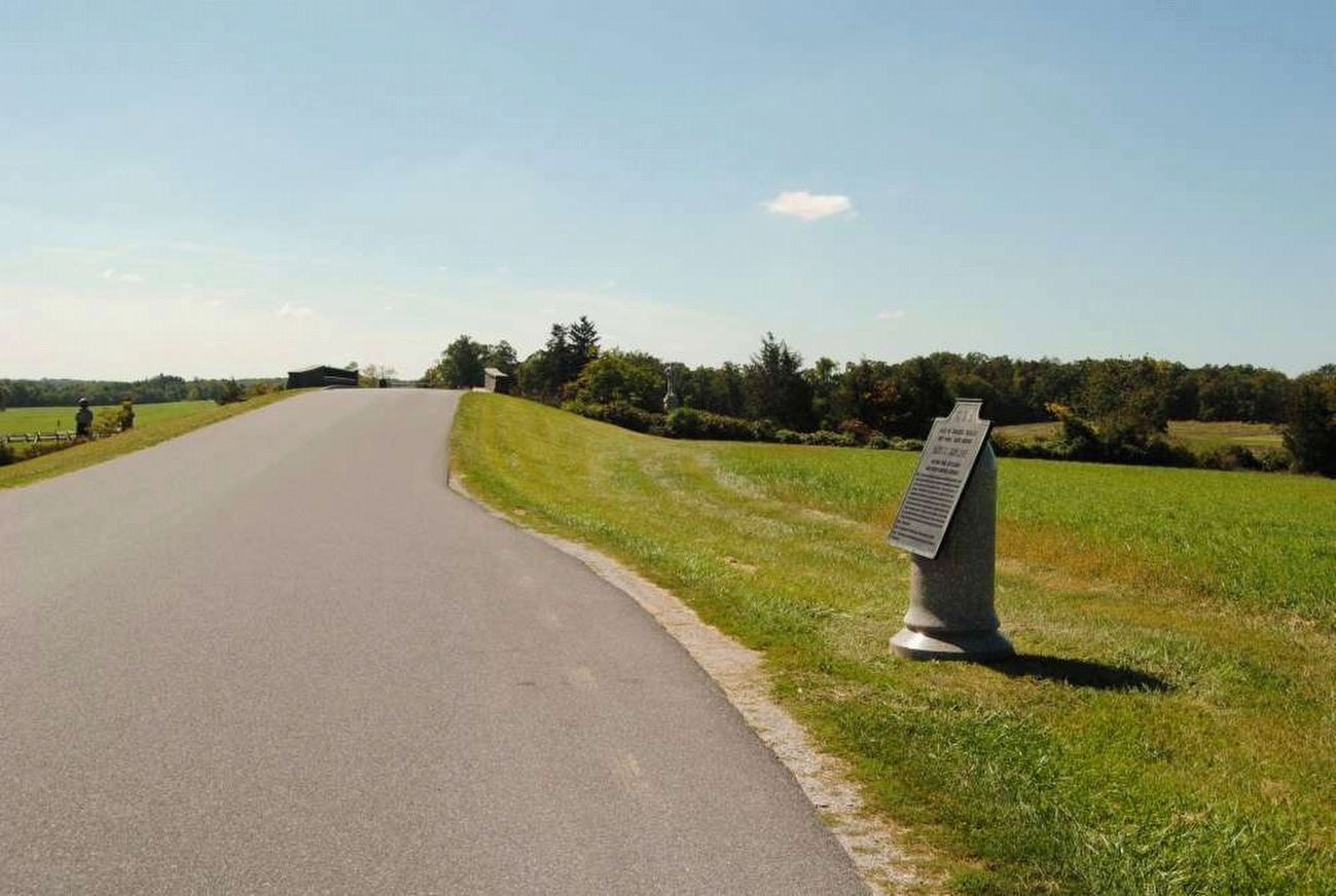 Davis&#39;s Brigade Marker<br>Looking South Along Reynolds Avenue image. Click for full size.