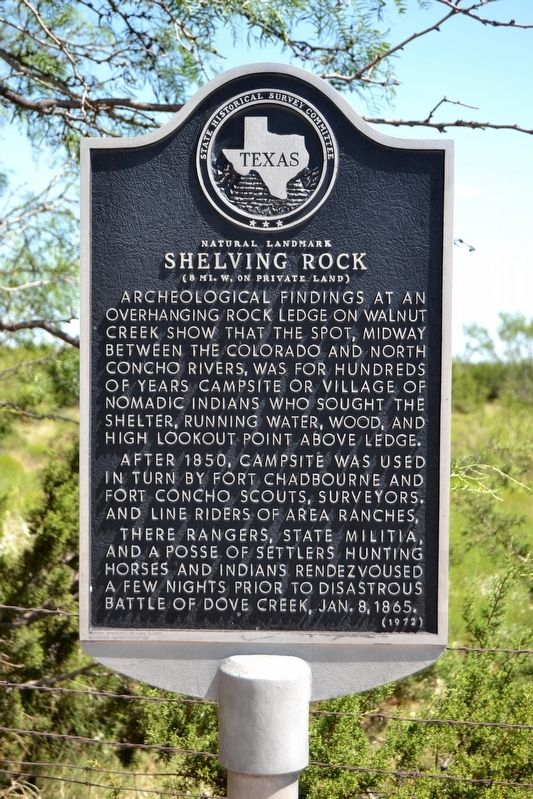 Natural Landmark Shelving Rock Marker image. Click for full size.