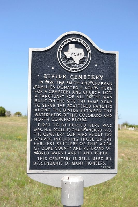 Divide Cemetery Marker image. Click for full size.