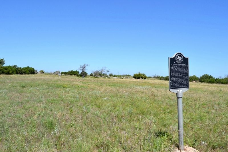 Marker 200 Feet East of Divide Cemetery Burial Plots image. Click for full size.