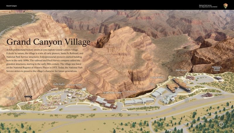 Grand Canyon Village Marker image. Click for full size.