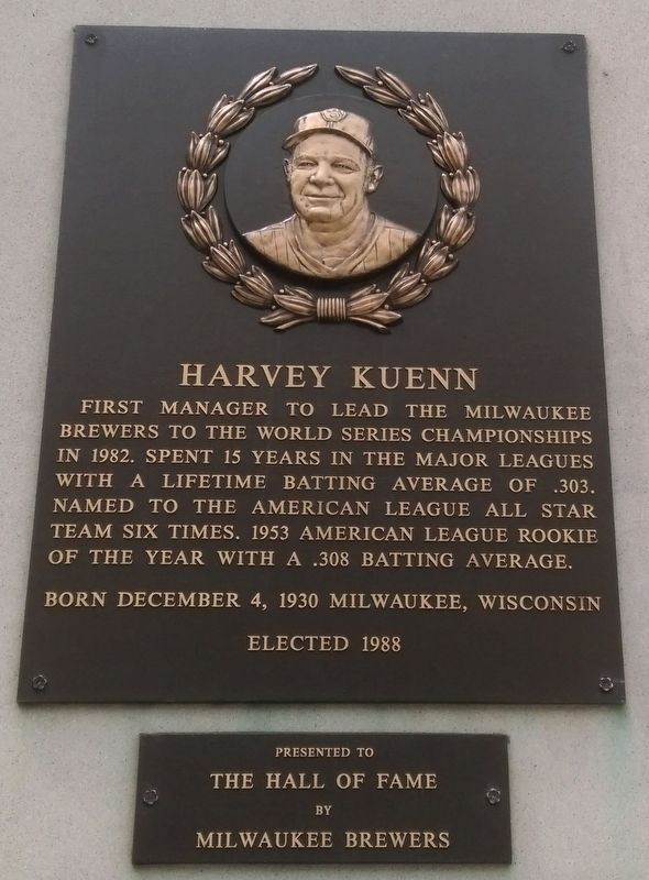 Harvey Kuenn Marker image. Click for full size.