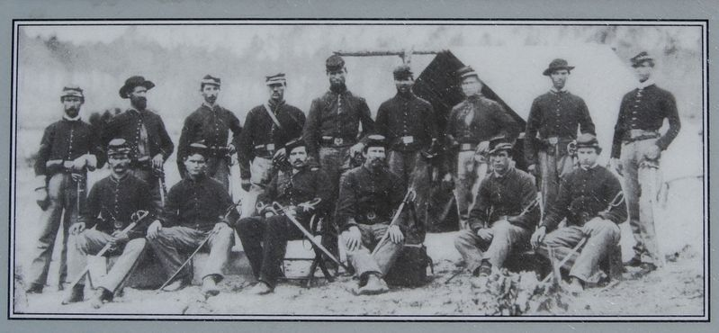The Cavalry Buys Time Marker<br>Troopers of the 3rd Indiana Cavalry image. Click for full size.
