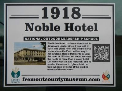 Noble Hotel Marker image. Click for full size.