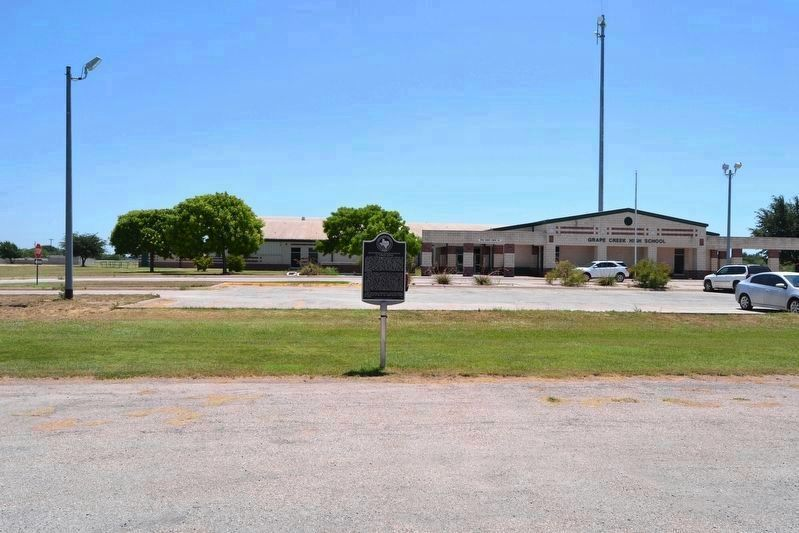 Marker in Front of Grape Creek High School image. Click for full size.
