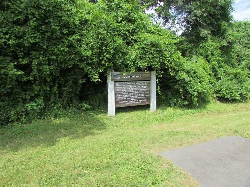 Rockfish Gap Marker on the Blue Ridge Parkway image. Click for full size.